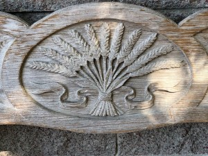 Wheat carving at the vineyard
