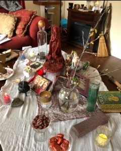 Imbolc 2019 Altar with Brigid