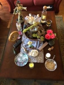 Ostara Altar 2