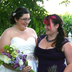 The Bride and Sungirl, her Maid of Honor
