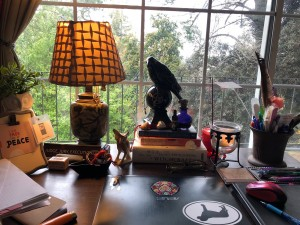 Desk with Crow
